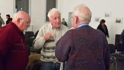 Sie haben den Krieg mehr oder weniger bewusst miterlebt: Wilhelm Schlüter, Alfred Steglitz und Ullrich Schlüter (v. l. n. r.)