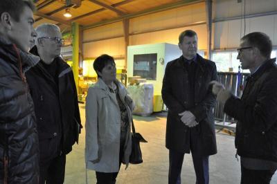 Foto zur Meldung: Herbst-Besuche des Landrats starteten in der vergangenen Woche