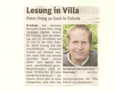 Foto zur Meldung: Villa in den Zeitungen