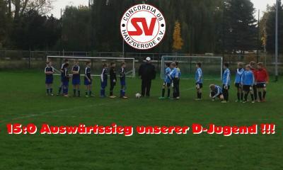 Foto zu Meldung: D-Jugend siegt 15:0 !!! 5 Tore durch Jonas Sk. in 6 Minuten