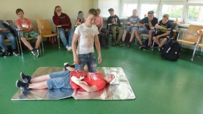 Bild der Meldung: Erste Hilfe - Kurs für die Klasse 7