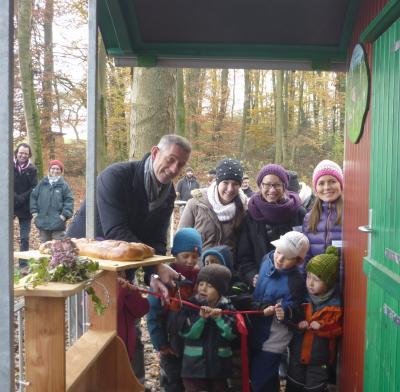 Waldkindergarten feiert offiziell Eröffnung