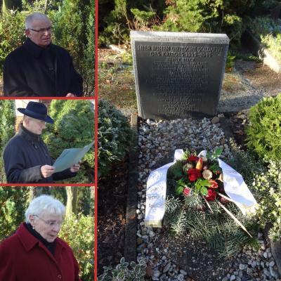 Foto zur Meldung: Gedenkstunde auf dem Rehfelder Friedhof
