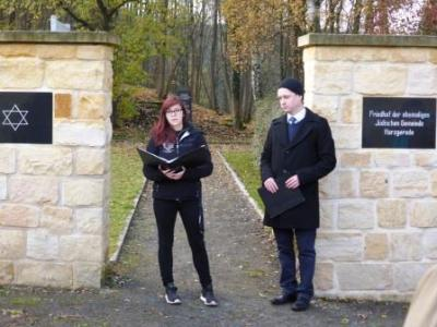 Foto zur Meldung: Gedenkfeier jüdischer Friedhof