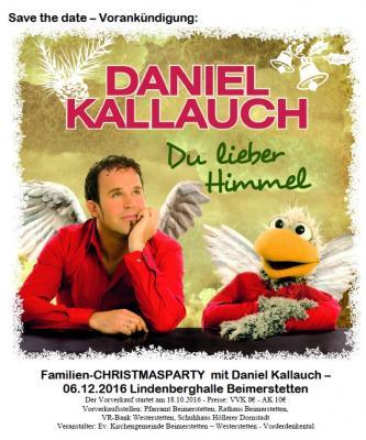Vorschaubild zur Meldung: Weihnachtskonzert mit Daniel Kallauch...