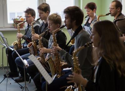 Foto zur Meldung: Workshop stand im Zeichen bekannter Swing-Melodien