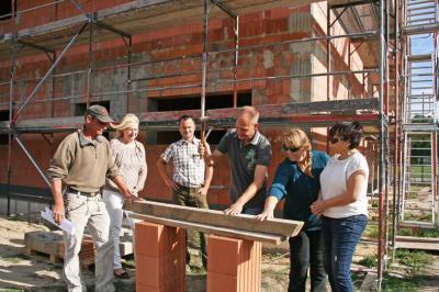"""Foto zur Meldung: """"Deckenfest"""" für neues Funktionsgebäude in Wandlitz"""