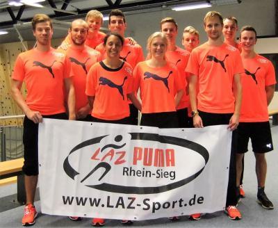 Foto zur Meldung: Team des LAZ Puma Rhein-Sieg misst sich mit Joey Kelly beim RTL Spendenmarathon