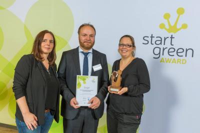 Foto zur Meldung: GEWINNER: StartGreen Award in der Kategorie Gründungsförderungsakteure geht in die Region