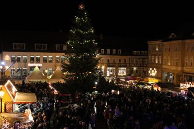 Foto zur Meldung: Winterlicher Wittstocker Weihnachtsmarkt