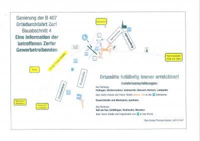 Vorschaubild zur Meldung: Sanierung der B 407 - Ortsdurchfahrt Zerf, Anfahrtsempfehlungen