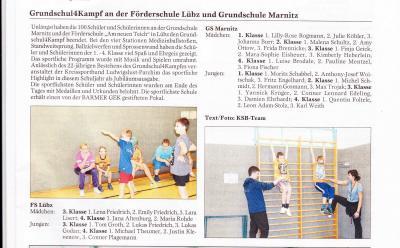 Foto zu Meldung: Grundschul-Vierkampf an unserer Schule