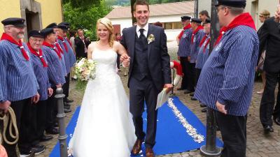 Foto zur Meldung: Hochzeit Christina und Michael Schulin
