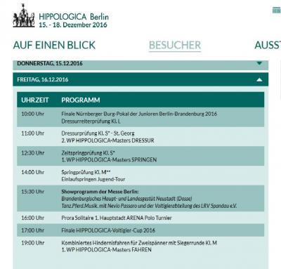 Bild der Meldung: Nürnberger Burg-Pokal der Junioren Berlin-Brandenburg 2016 - vier Reiterinnen aus Münchehofe unter den besten 10 Finalisten