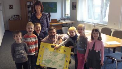 Foto zur Meldung: Ein Besuch bei unserem Bürgermeister Herr Kaluza