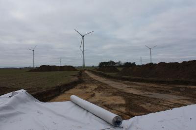 Foto zur Meldung: Baustart für Windkraftanlagen