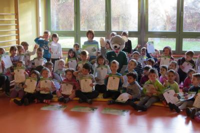 """Foto zur Meldung: Sächsisches Kindersportabzeichen """"Flizzy"""": Sportmaus vermittelt Spaß am Sport"""
