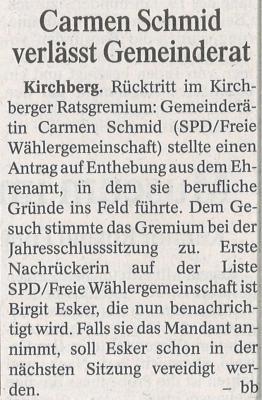 Auszug Der Bayerwald Bote 23.12.2016