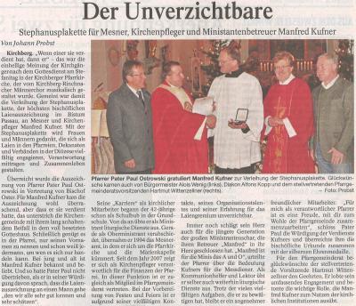 Auszug Der Bayerwald Bote 28.12.2016