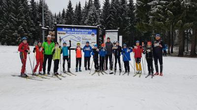 Foto zur Meldung: Schneetraining in Johanngeorgenstdt