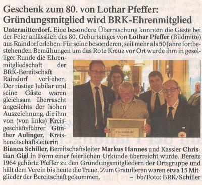 Auszug Der Bayerwald Bote 30.12.2016