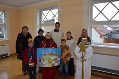 Foto zur Meldung: Sternsinger zu Besuch in der Ketziner Stadtverwaltung