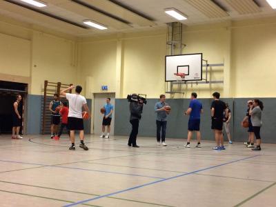 Foto zur Meldung: RBB beim Basketballtraining