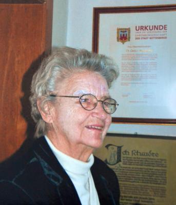 Ehrenbürgerin der Stadt Wittenberge I  Dr. Gerda v. Hodenberg I † 4. Januar 2017 I Foto: Foto-Podiebrad