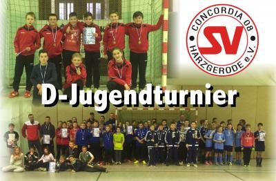 Foto zu Meldung: D-Jugend kann die Erwartungen beim Hallenturnier von Gernrode/Rieder ll nicht erfüllen.