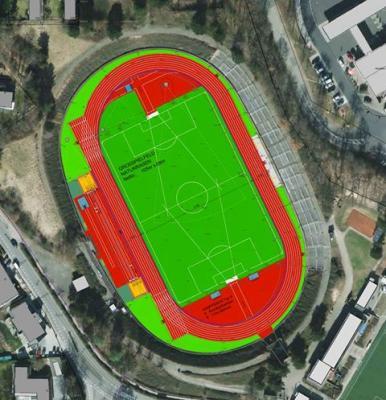 Foto zur Meldung: Sanierung des Walter Mundorf Stadions: Start im April