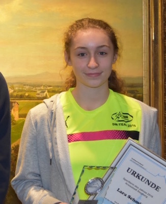 Foto zur Meldung: Lara Schmitz zur Sportlerin des Jahres 2016 gewählt