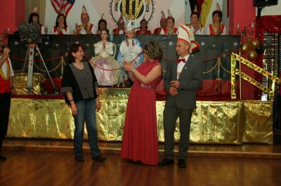 Foto zur Meldung: Ernennung von Sandra Weinreich zur Ehrennärrin des LCV