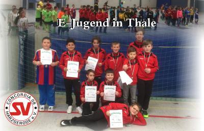 Foto zu Meldung: E-Jugend belegt 7. Platz beim Hallenturnier in Thale