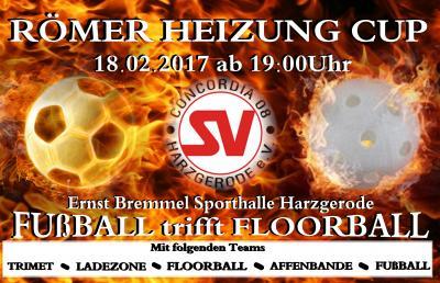 Foto zur Meldung: Römer Heizung Cup 2017 Floorball trifft Fußball