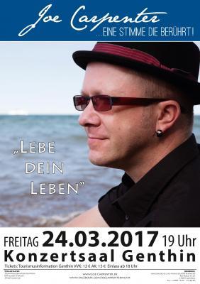 """Foto zu Meldung: Konzert """"Lebe Dein Leben"""" mit Joe Carpenter am 24. März 2017 in Genthin"""