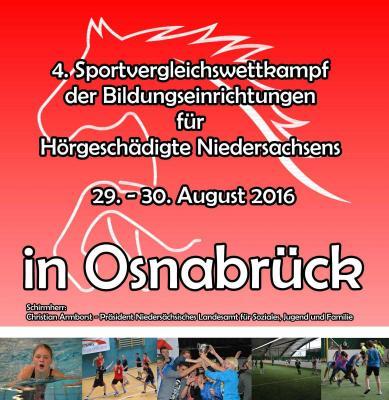Vorschaubild zur Meldung: 4. Sport-Vergleichswettkampf der Bildungseinrichtungen für Hörgeschädigte in Niedersachsen