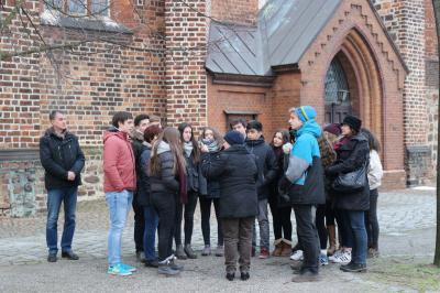 Foto zur Meldung: Chilenische Schüler touren durch Deutschland mit Halt in Calau