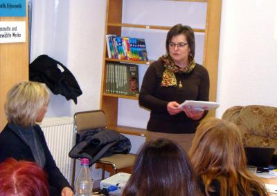 Frau Kromke während ihres Vortrages