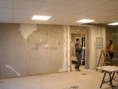 Rohausbauarbeiten in einem der Räume, die nun neu gestaltet werden