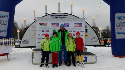Die Schülercupmannschaft für Johanngeorgenstadt