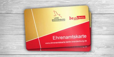 Die Ehrenamtskarte der Länder Berlin und Brandenburg gibt es seit Anfang 2017 (Bildquelle: Staatskanzlei Brandenburg)
