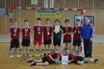 Foto zur Meldung: Kreisfinale Handball WK IV m in Lübbenau 16.02.2017