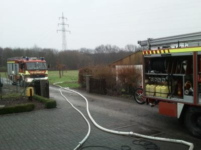 Foto zu Meldung: Nach Frost Rohrbruch im Kleingarten Keller des Vereinsheims unter Wasser – Feuerwehr im Einsatz