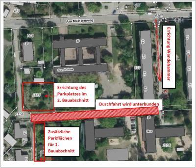 """Foto zur Meldung: Informationen der Stadtverwaltung zu den künftigen Verkehrsveränderungen """"Am Mühlenweg"""" und zur Campusplanung der Europaschule"""