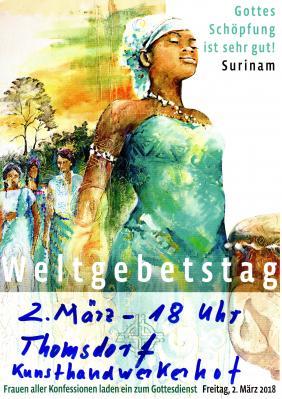 Vorschaubild zur Meldung: Weltgebetstag am 2. März in Thomsdorf