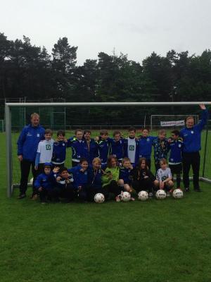 Foto zur Meldung: E1-Junioren - Zweiter Platz beim Sparkassen-Cup 2014