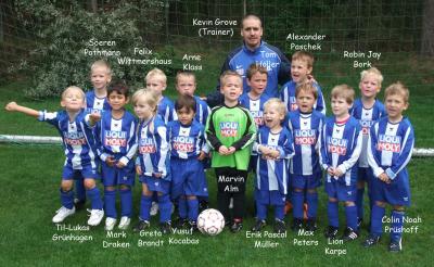 Foto zur Meldung: G-Jugend - Mannschaftsfoto April 2011