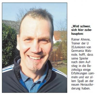 """Foto zur Meldung: C-Junioren - Bezirksliga """"Premiere"""" endet mit Niederlage"""