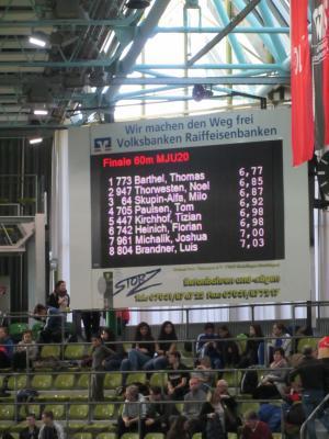 Vorschaubild zur Meldung: Tizian Kikrchhoff: 5. Platz bei der Hallen-DM in Sindelfingen