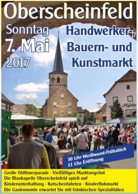 Vorschaubild zur Meldung: Handwerker-, Bauern- und Kunstmarkt am 7. Mai